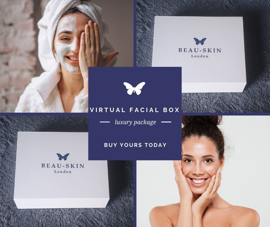 women applying a facial mask